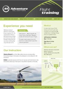 Flight Training Brochure
